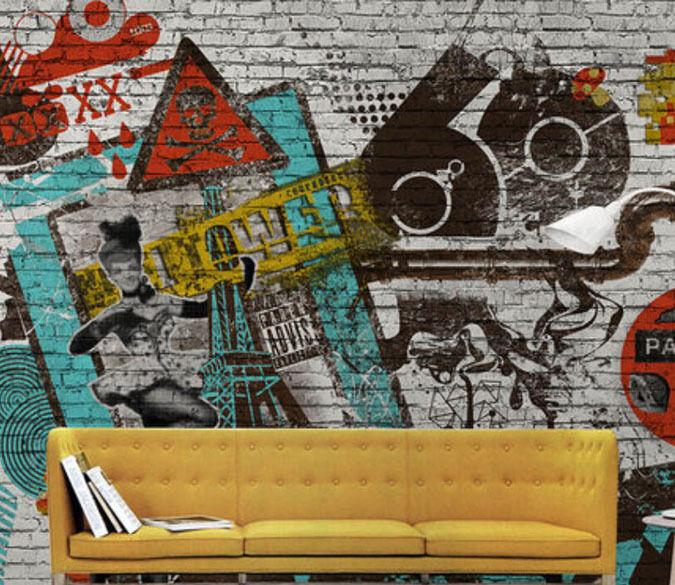 3D Graffiti Stone 4174 Paper Wall Print Decal Wall Wall Mural AJ WALLPAPER GB