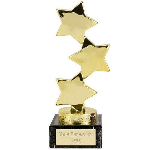Hope Star Gold couleur Trophée Gravé FREE universitaire Business Triple trophées