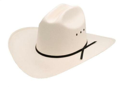 Black Band Western Express Brand New Off White Cattleman Straw Cowboy Hat