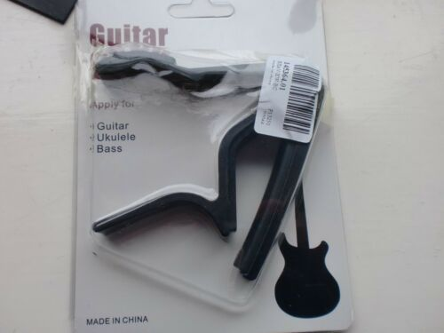 EASY RELEASE BLACK ALLOY TRIGGER ACTION GUITAR CAPO FITS ACOUSTIC /& ELECTRIC
