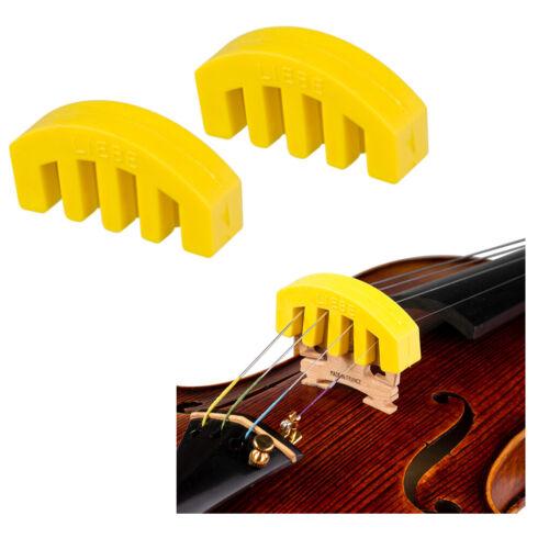 4//4 3//4 1//2 Violin Mute Fiddle Schalldämpfer für 2 Stk