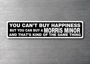 Buy-a-Morris-Minor-sticker-quality-7yr-vinyl-water-fade-proof