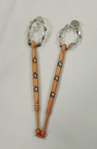 Paire Dentelle Making Bobines paillettes peint laiton cristal Choix multiples B