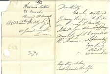 * 1822 LOCAL DUBLIN H/S 1 LETTER & RED OVAL TIME MARK FRANCIS SUTTON TO Wm KELLY