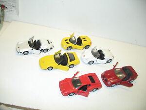 Lot-de-6-voitures-de-luxe-et-de-course-1-35-a-1-38-maisto-tout-en-metal-lot-1