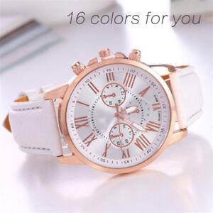 New-Fashion-Geneva-Women-Leather-Band-Stainless-Steel-Quartz-Analog-Wrist-Watch