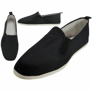 Canvas Slip On Kung Fu Shoes Cotton Soles