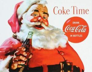 Coca-Cola-Coke-Santa-Claus-Christmas-Vintage-Retro-Tin-Metal-Sign-16-034-Wx12-5-034-H