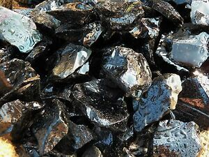 1000 Carat Lots of Black Obsidian Rough - Plus a FREE Faceted Gemstone