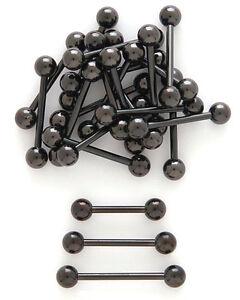 14g-3-8-034-1-2-034-5-8-034-3-4-034-Black-Anodized-Titanium-Tongue-Barbell-Nipple-Ring