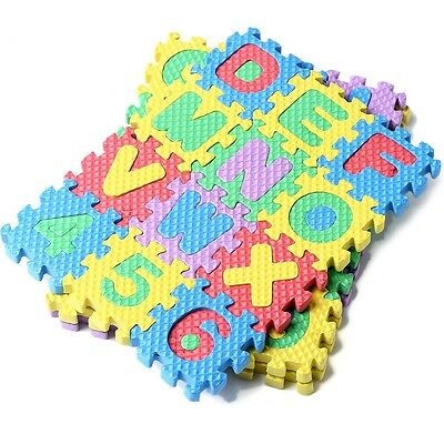 Puzzle Kid Educational Toy Alphabet A-Z Letters Numeral Foam Mat Mini Size 36pc
