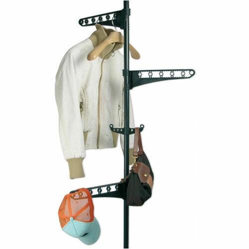 Télescope Garde-robe réglable en hauteur de 160-290 cm Penderie PorteManteau