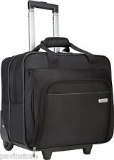 "Targus Metro Rolling Briefcase 16"" Wheeled Laptop Notebook Case Carry Bag Black"