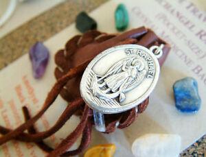 SAFE TRAVEL CRYSTAL MEDICINE BAG Pocket Size Deerskin Pouch + Reiki Gemstones
