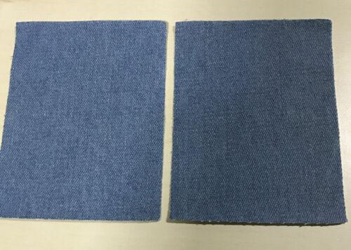 COPPIA di denim di ferro-su Denim Jeans Toppe riparazione Blu Chiaro//Nero//Blu Scuro
