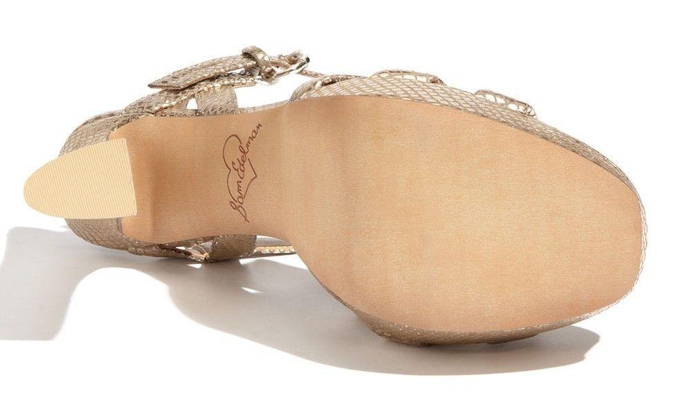 Sam Edelman TARYN Leather Platform Pump Sandal 6 7.5 8 8 8 8.5 9 9.5 10 Snake  130 02f5de
