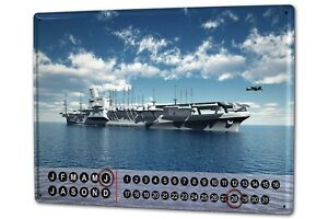 Perpetual-Calendar-Nostalgic-Aircraft-carrier-Tin-Metal-Magnetic