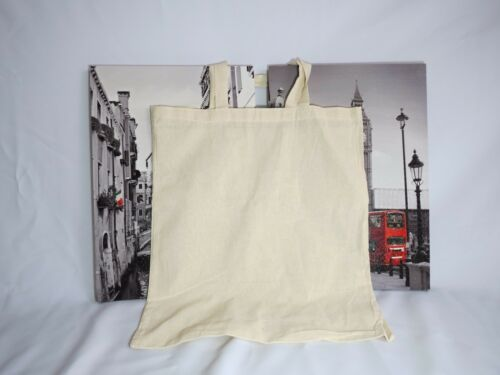Plain Calico Bag Short Hand 5 10 20 30 50 100 200 100% Cotton Promo Bags