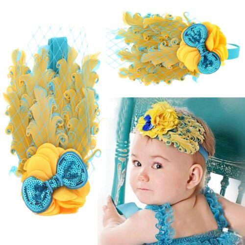 Bébé Bandeau Fille Enfant Cheveux Plume Serre Tête Dentelle Elastique Cadeau Noë