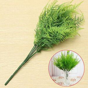 7-Zweige-Kuenstliche-Spargel-Farn-Gras-Pflanze-Blume-Startseite-Blumendeko-G3D