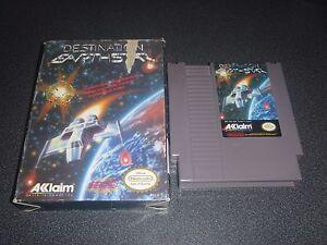 Destination Earthstar Nintendo NES Game in original box! Great For a Collector!