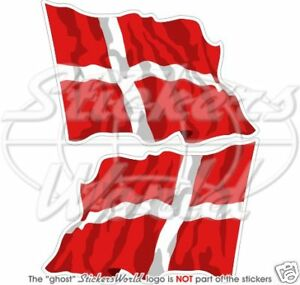 DENMARK-Danish-Danmark-Flying-Flag-120mm-4-7-034-Vinyl-Bumper-Stickers-Decals-x2