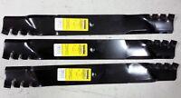 Set Of 3 Grasshopper Snapper 61 Mower Mulching Predator Blades 320245 7-9222
