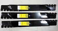 Set Of 3 Grasshopper Snapper 61 Mower Mulching Predator Blades 320245 7-9222
