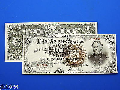 Reproduction $100 1890 T-Note US Paper Money Currency Copy
