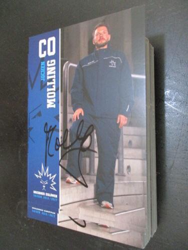 67840 Jochen Molling Dresdner Eislöwen 16-17 original signierte Autogrammkarte