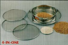 Flour Sifter Sieve -Stainless Steel Sieve 4pc -SuperFine,fine,medium,course 25cm