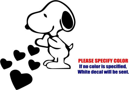"Vinyl Decal Sticker Snoopy Love Hearts Car Truck Bumper Window Wall JDM Fun 6/"""