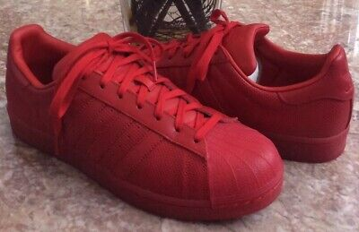 good fashion best sale Adidas Superstar Men's Red Shell Toe Supercolor Shoe Sz 11.5 ...