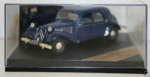 Vitesse-Escala-1-43-V98138-Citroen-11B-1954-Bleu-Nuit-de-traccion