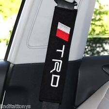 BRAND NEW Car Seat Belt Shoulder Pad Pair 2 pieces Covers Cushion for Toyota TRD