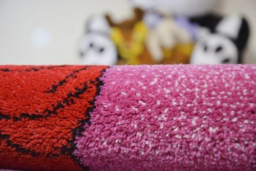 Teppiche Weich und dicht Kinder Teppich KIDS C425 rosa Prinzessin roten Kleid