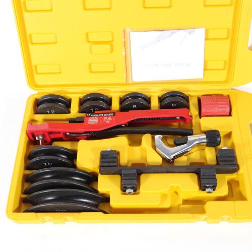 Multi Manual Pipe Tube Bender Tool Kit 1//4-7//8 /& 7 Dies Great Case Stainless New