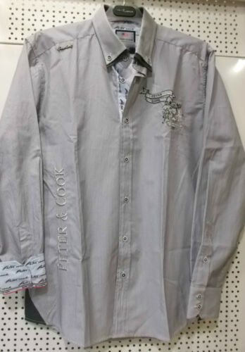 CAMISA HOMBRE PETER COOK BARCELONA TALLA L Camicia Skjorte Chemise Peter Cook