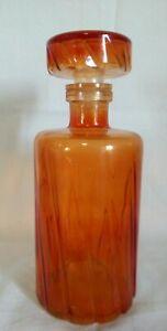Bottiglia Per Liquore Rosolio Vetro Arancione Vintage Cl 75 Bar Pub Decanter Soulager Le Rhumatisme
