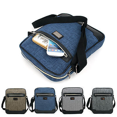 New Men's Canvas Shoulder Bag Casual School Messenger Cross Body Bag Travel Bag