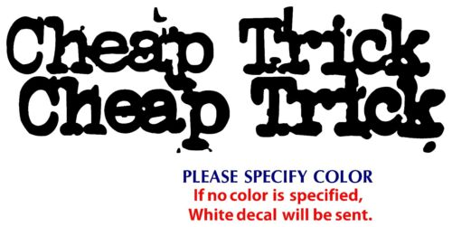 "Cheap trick Metal Music Rock Band Funny Vinyl Sticker Decal Car Window Wall 8/"""