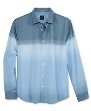 Armani Exchange Ombre Striped Button Up Slim Shirt Woven Men's XL Blue