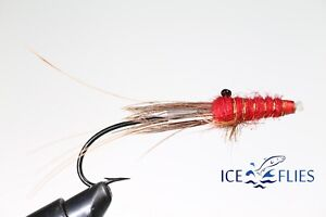 ICE FLIES Snaelda Black and Blue Pick a size. Tube fly 3-pack
