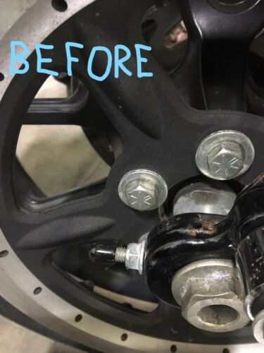 SHINY NUTZ FLAT BLACK BOLT COVERS FOR REAR SPROCKET PULLEY HARLEY SOFTAIL WHEEL