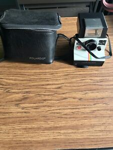 Poleroid-Land-Camera-ONE-STEP-With-Strap-Flash-And-Case-UNTESTED