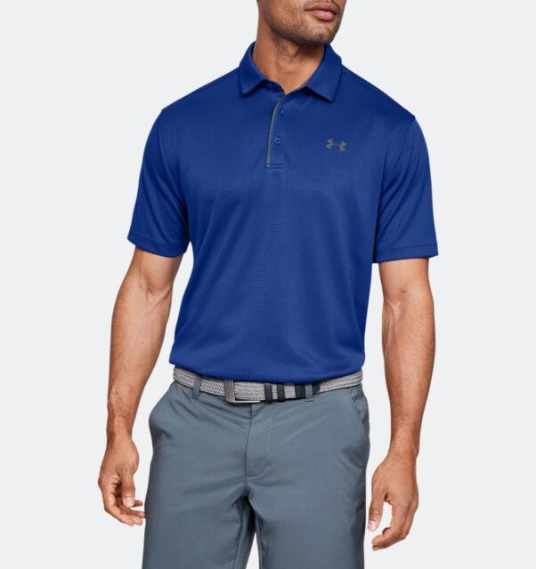 New Men's Under Armour UA Tech Golf Polo Shirt Blue 1290140-401 Sz XL