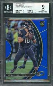2017-select-prizm-blue-72-MITCHELL-TRUBISKY-bears-rookie-card-BGS-9-9-9-9-9-5