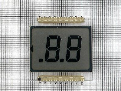 SHELLY 95200-04 2-DIGITS 7-SEGMENT LCD DISPLAY GLASS (4 PCS)