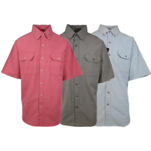 Carhartt-Men-039-s-Chambray-S-S-Woven-Shirt-Retail-40