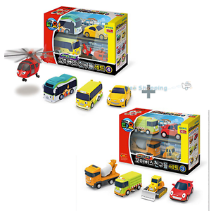 Little Bus Tayo Friends Special Mini Car Toy 8 pcs Set Ver.3 & Ver.4 Helicopter